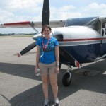 After my first Cessna flight this summer thanks to CAP