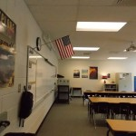 View of classroom from entry door