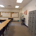 View of back of class from entry door