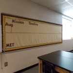 Mission Timeline bulletin board