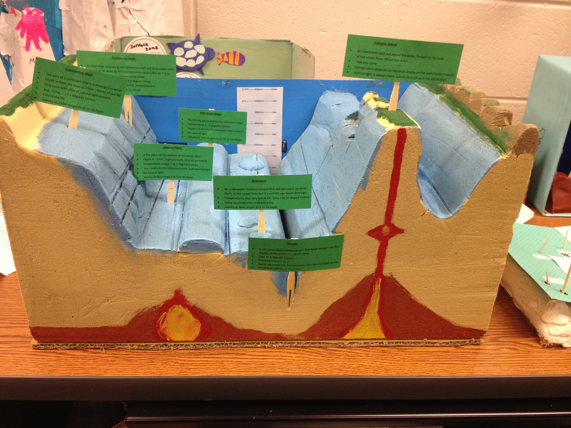 Ocean Floor School Projects Models http://mrswilsonscience.com/stretchingforward/ocean-floor-models/