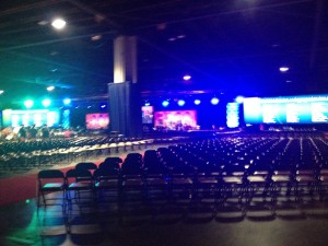 Massive space for the keynotes