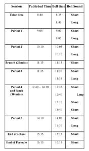 Hazeley schedule