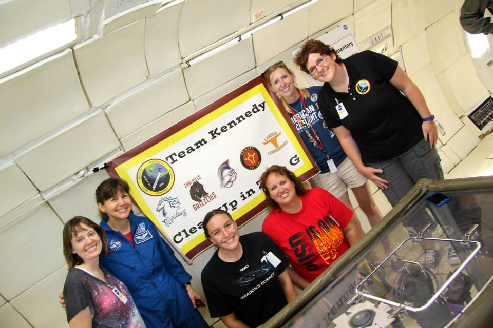 My wonderful microgravity teammates with astronaut Cady Coleman.